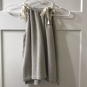 Striped Double tie Tank top